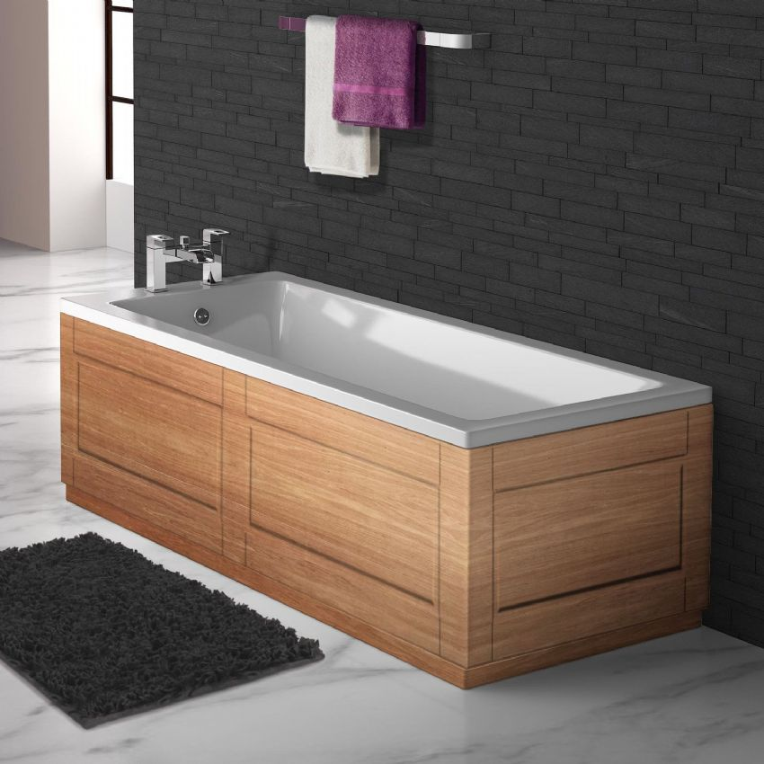 Luxury Shaker Style Pippy Oak 2 Piece adjustable Bath Panels